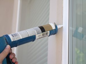 caulking exterior and interior doors and windows keeps bugs out